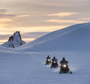 Snowmobile Tour and an Into the Glacier on Langjokull