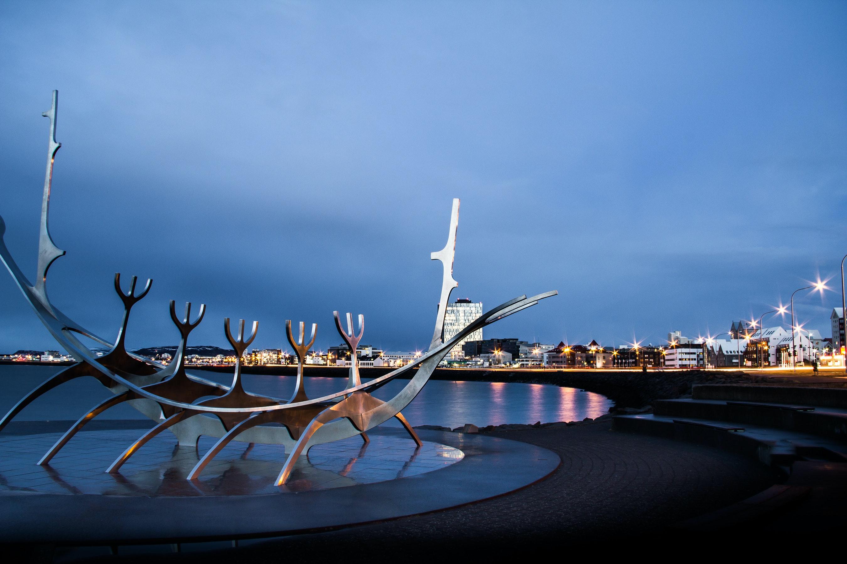 Solfarið or sun-voyager in Reykjavík