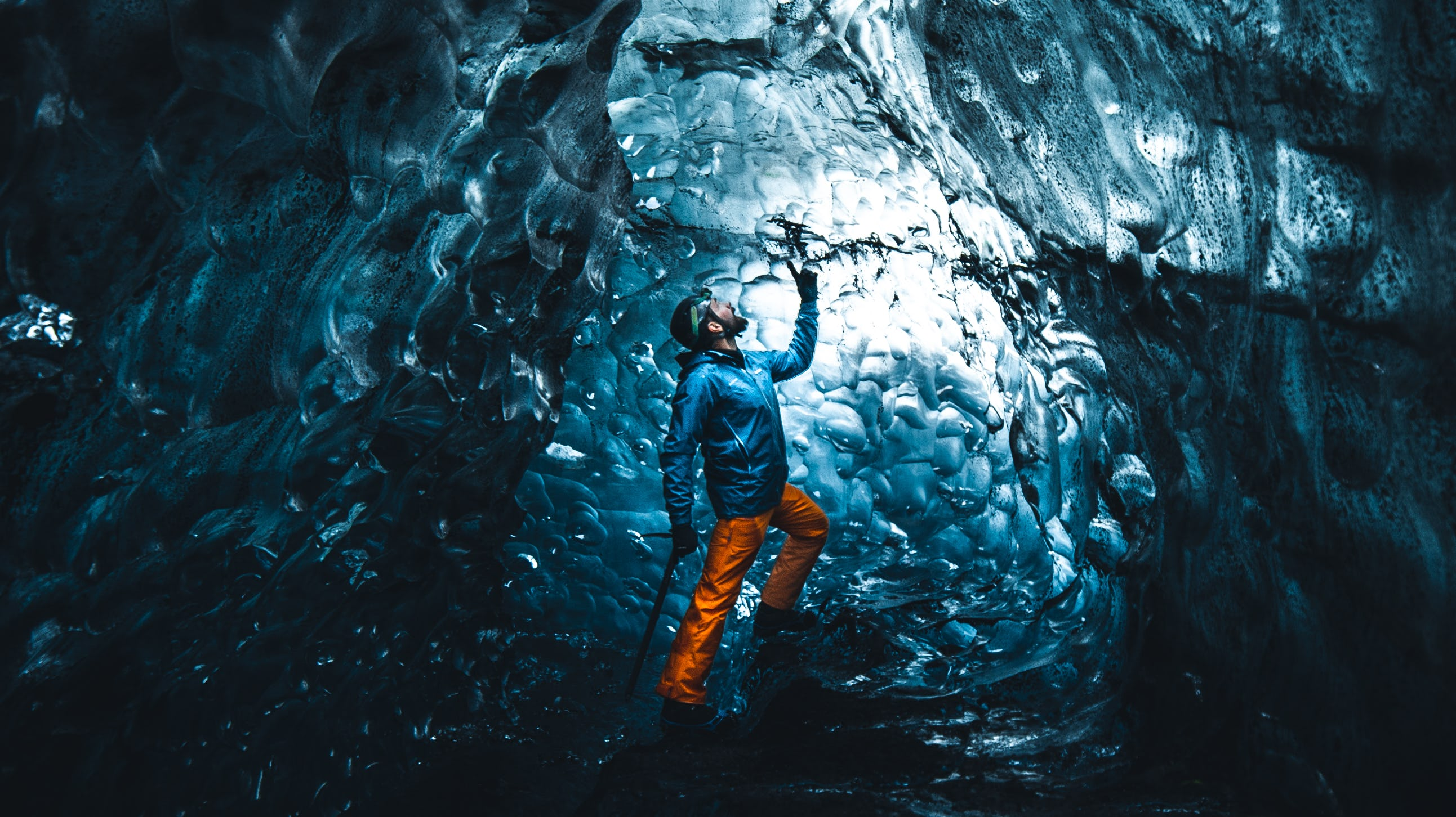 The Ice Cave Tour Guide at Vatnajokull