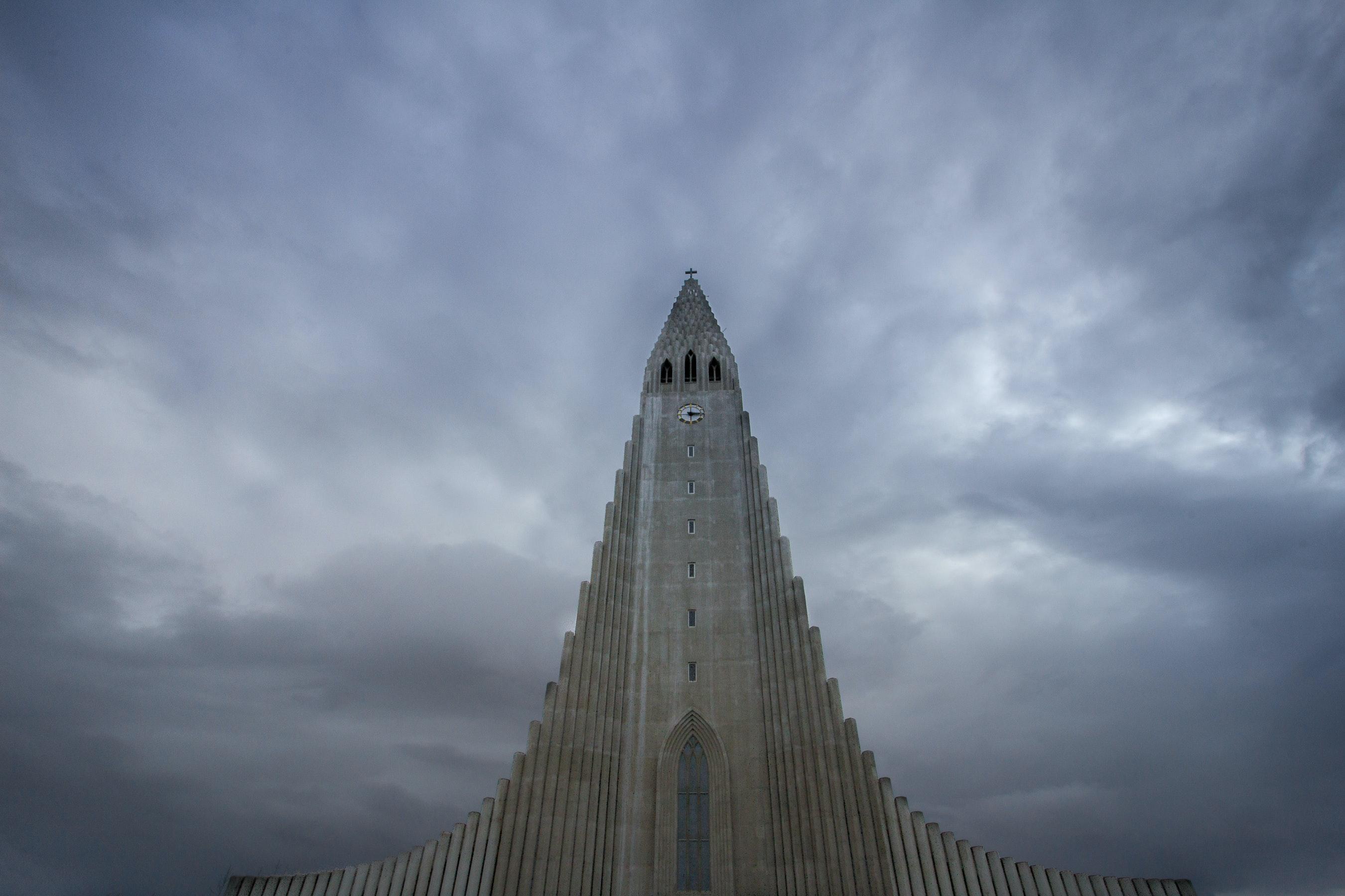 Hallgrímskirkja church in Reykjavík