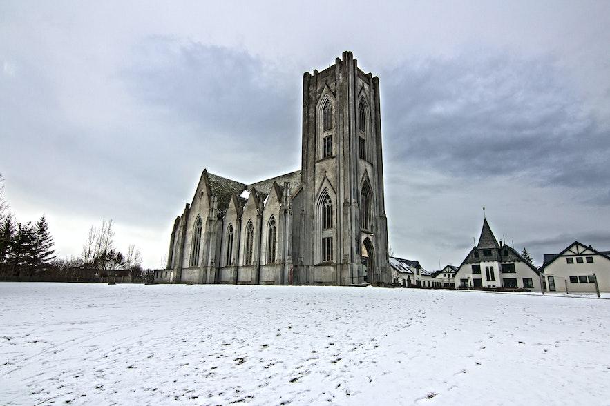 Landakotskirkja church in Reykjavík