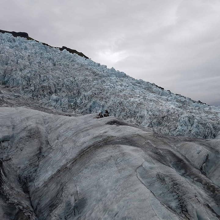 The ice of Vatnajokull glacier