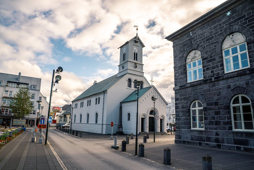 Reykjavik City Centre lays host to Domkirkjan Church