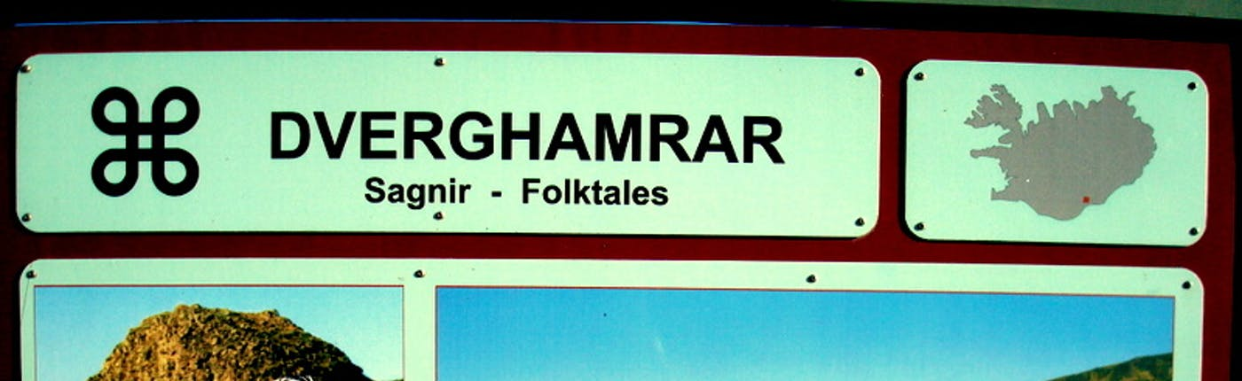 Dverghamrar Folktales sign