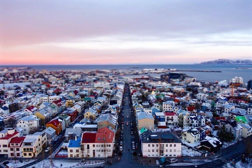 冰岛首都雷克雅未克市区美景