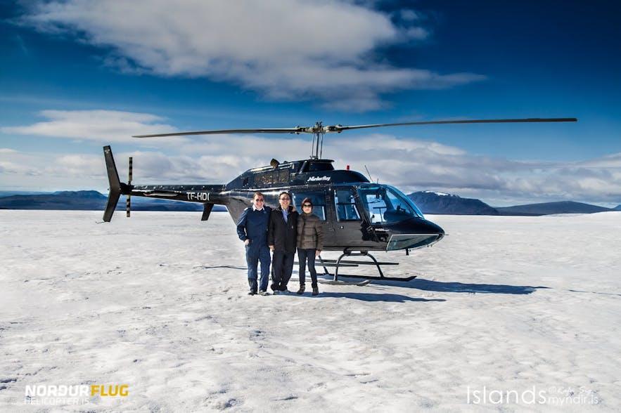 冰岛直升机旅行团
