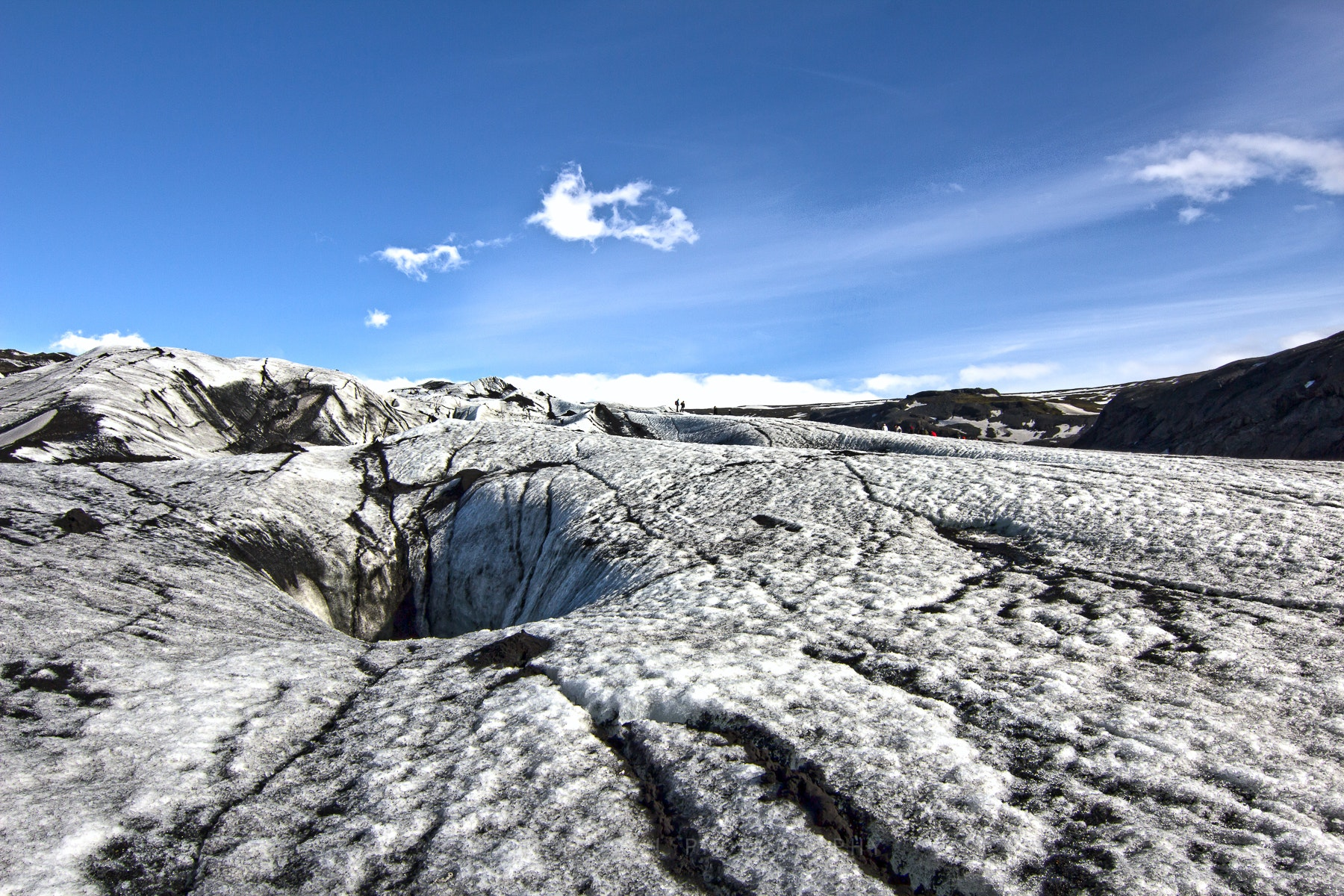 Walking on glacier and surfing the south coast