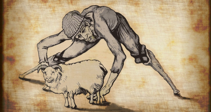 Sheep Cote Clod is the first Icelandic Yule Lad.