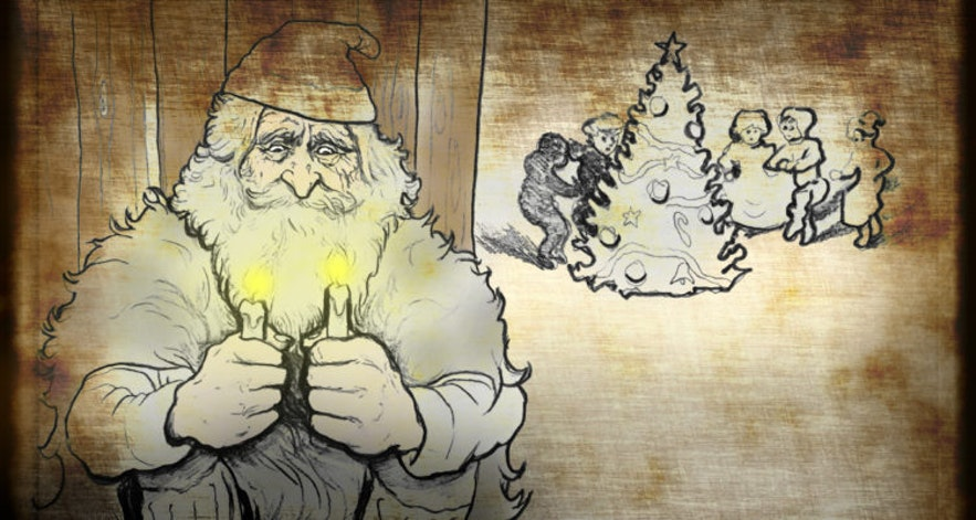 Candle-Stealer is the last Icelandic Yule Lad.