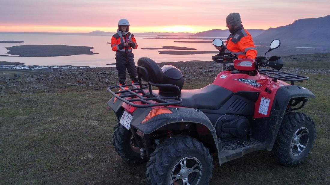 Niezapomniana 3-godzinna wycieczka ATV w trakcie białych nocy z transferem z Reykjaviku