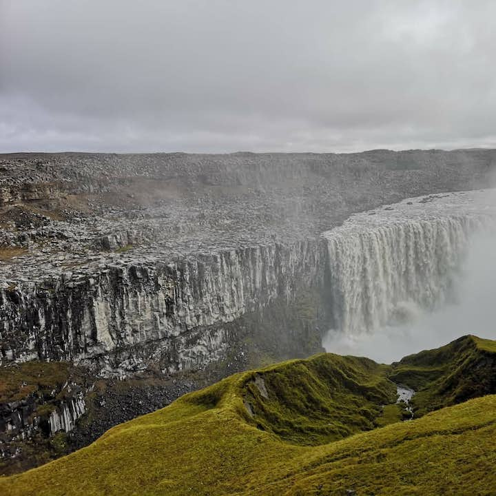 The powerful Dettifoss waterfall in the North Iceland