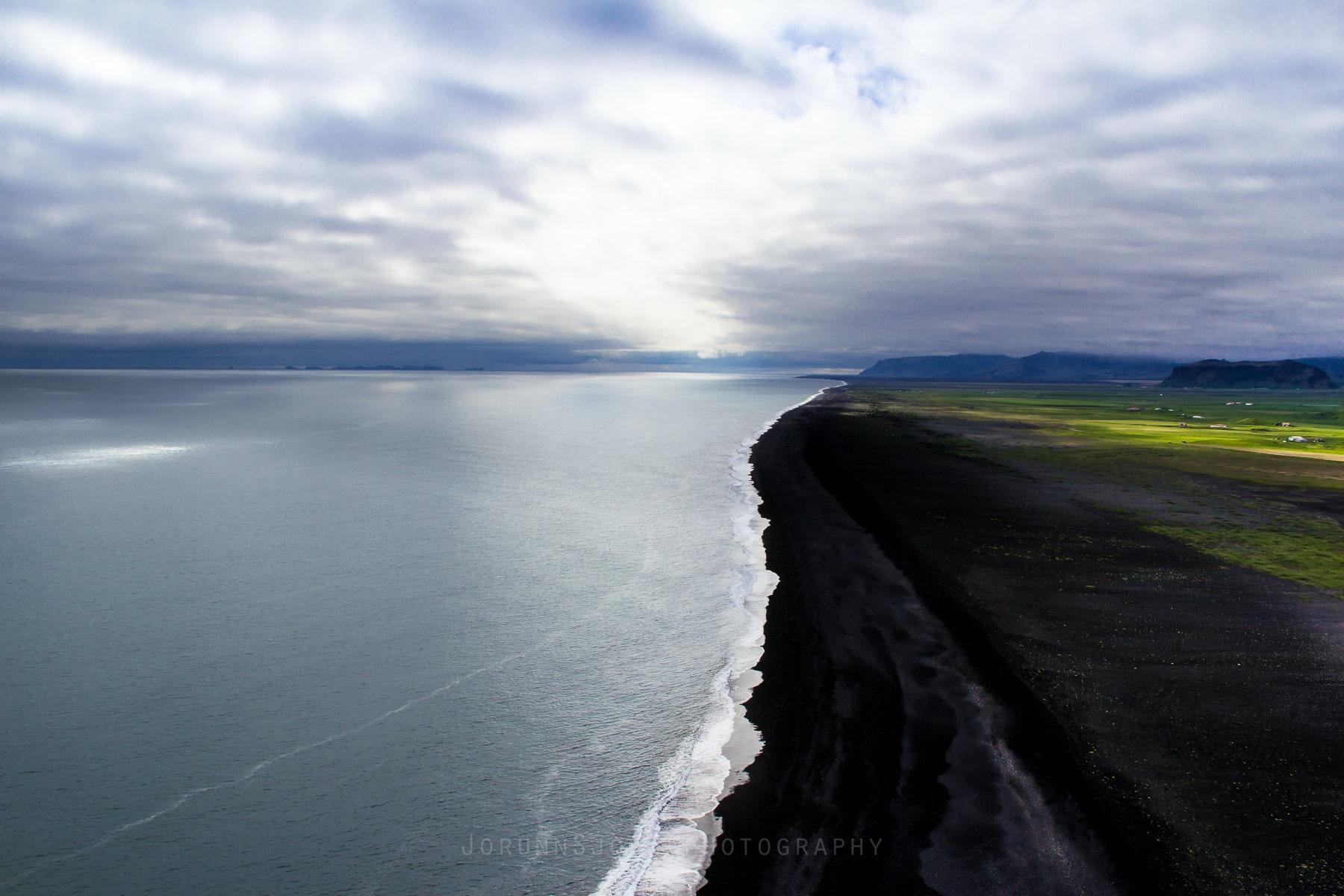 The coast from Dyrhólaey, South Iceland