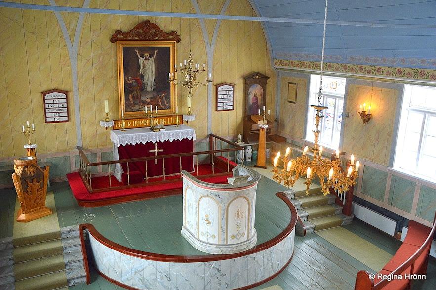 Prestbakkakirkja church South-Iceland inside photos