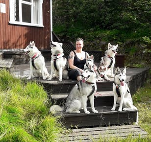 Hiking with Husky Dogs in Akureyri