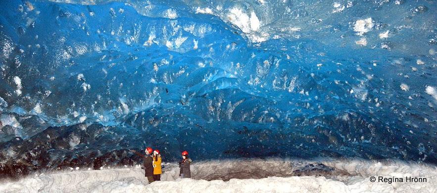 Inside Breiðamerkurjökull ice cave