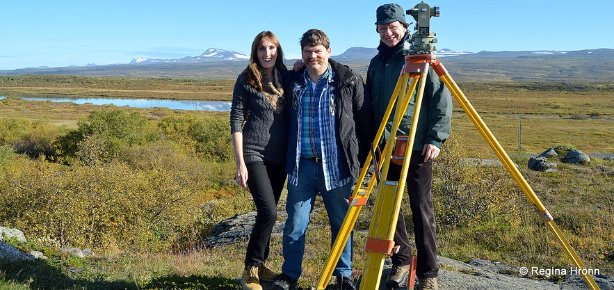 Regína with her husband and father-in-law in East-Iceland