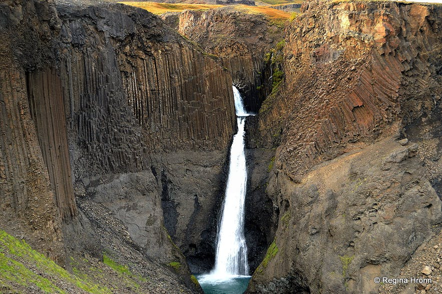 The majestic Hengifoss and Litlanesfoss Waterfalls in East-Iceland