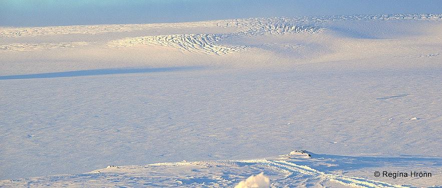 Crevasses in Langjökull glacier