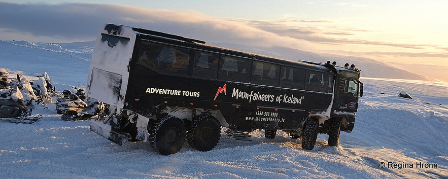 The huge truck at Langjökull glaicer ice cave