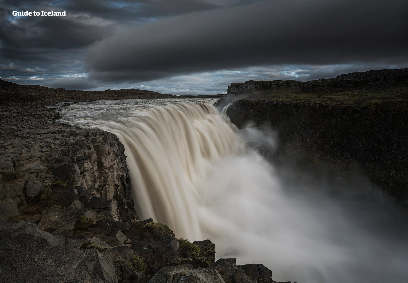 Dettifoss is an incredibly powerful waterfall in the North of Iceland