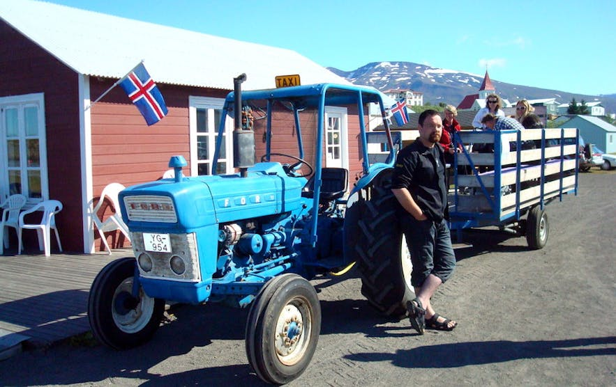 Taxi in Hrísey, north Iceland