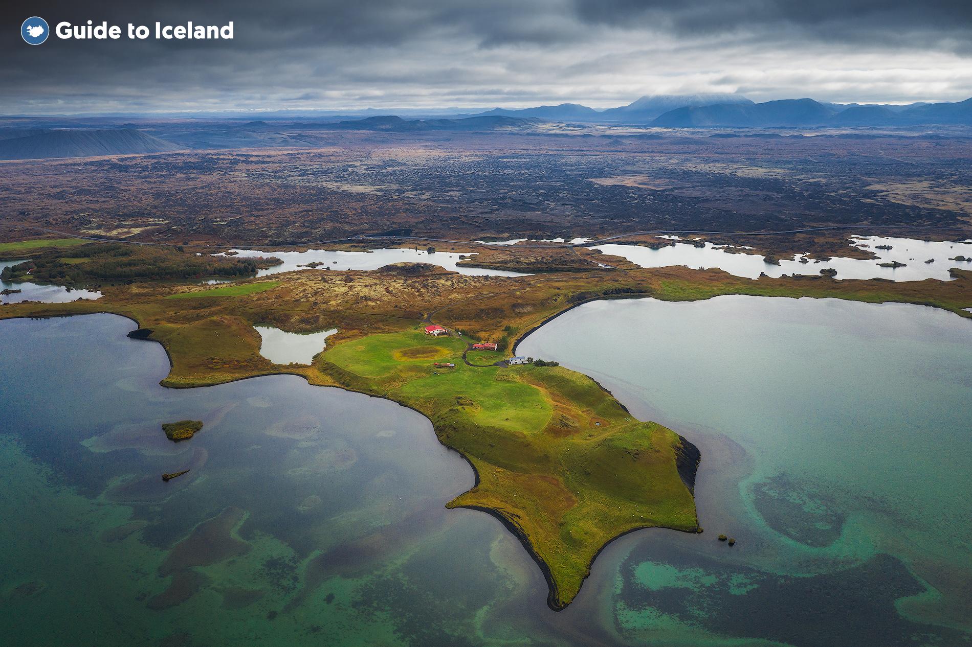 Le lac Mývatn dans le Nord de l'Islande