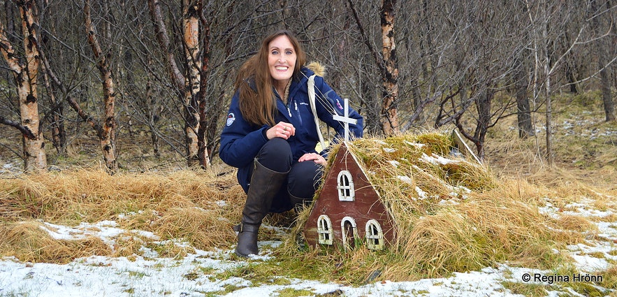 A replica of a turf church at Skógar South-Iceland