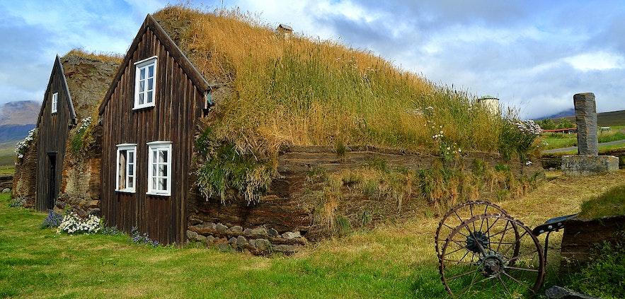 Stóru-Akrar turf house in Skagafjörður North-Iceland