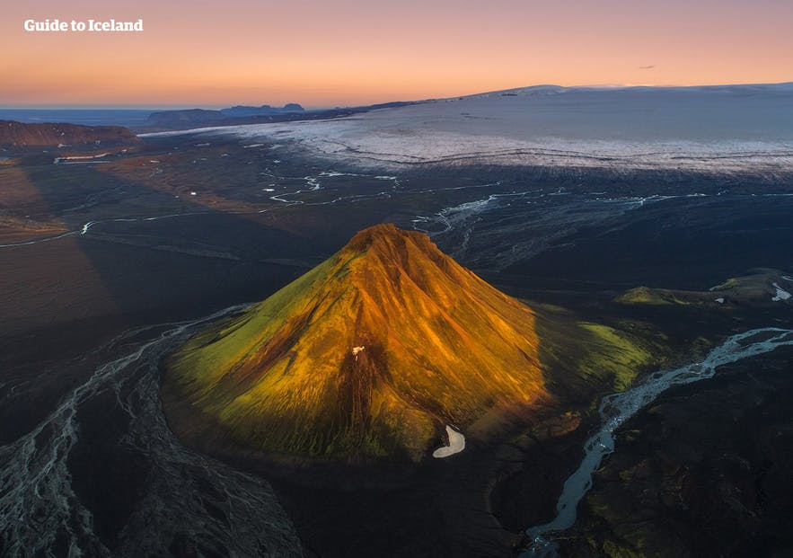 Mælifell is volcano in Iceland's southern highlands.