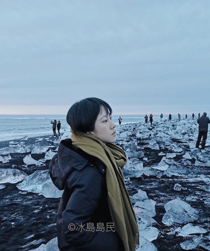 冰島冬季的鑽石沙灘