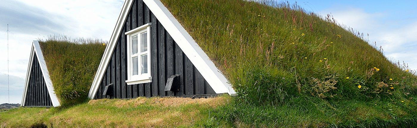 The Fishermen's Garden in Hellissandur on the Snæfellsnes Peninsula in West-Iceland