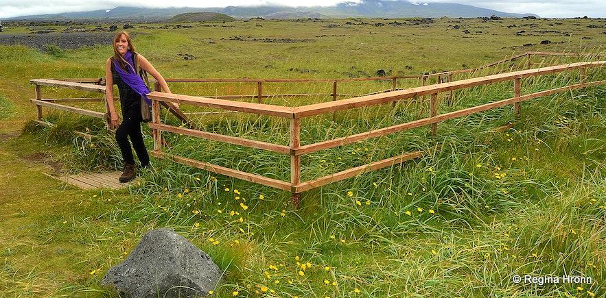 Regína by Ískrabrunnur - the Well of the Irish Snæfellsnes peninsula