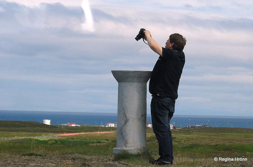 The view-dial at Háholt Snæfellsnes