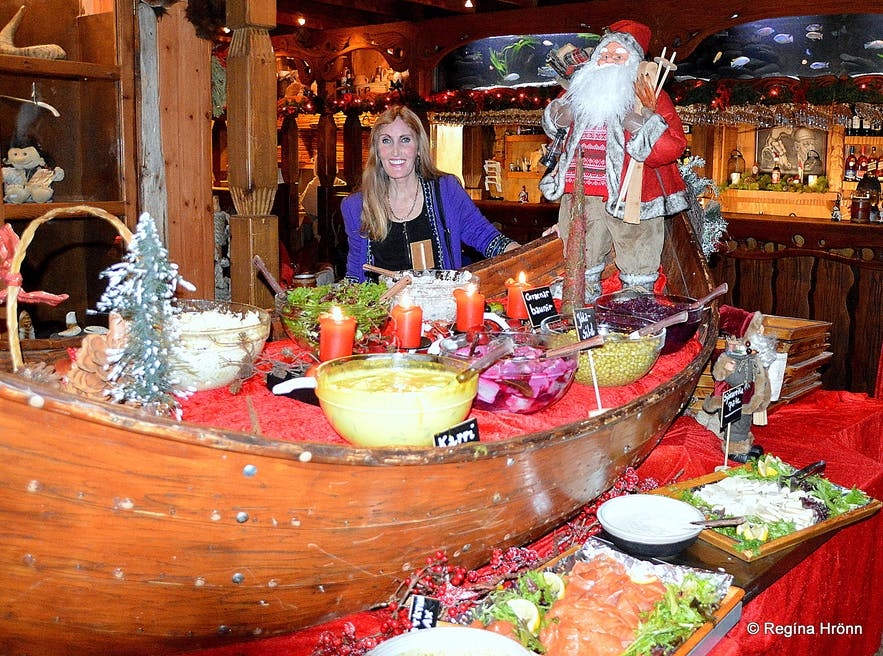 A lovely Christmas Buffet at Fjörukráin Viking Restaurant in Iceland