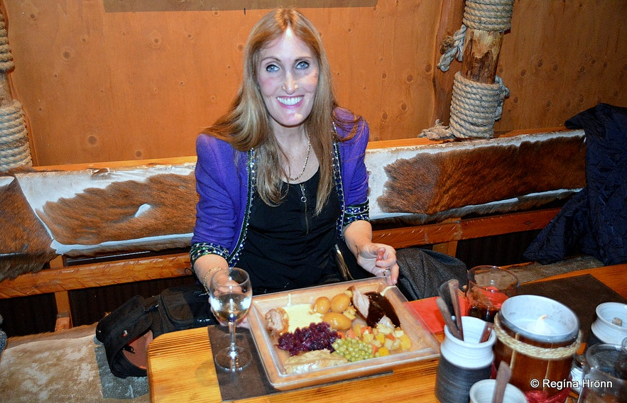 Regína at Fjörukráin Viking restaurant at the Viking Village