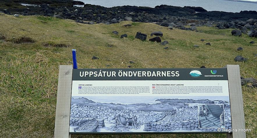 Uppsátur Öndverðarness information sign
