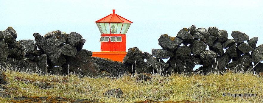 Önverðarnesviti lighthouse at Öndverðarnes Snæfellsnes peninsula