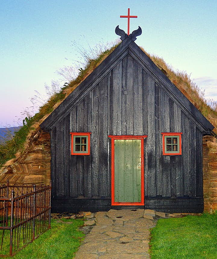 Víðimýrarkirkja turf church Skagafjörður North Iceland
