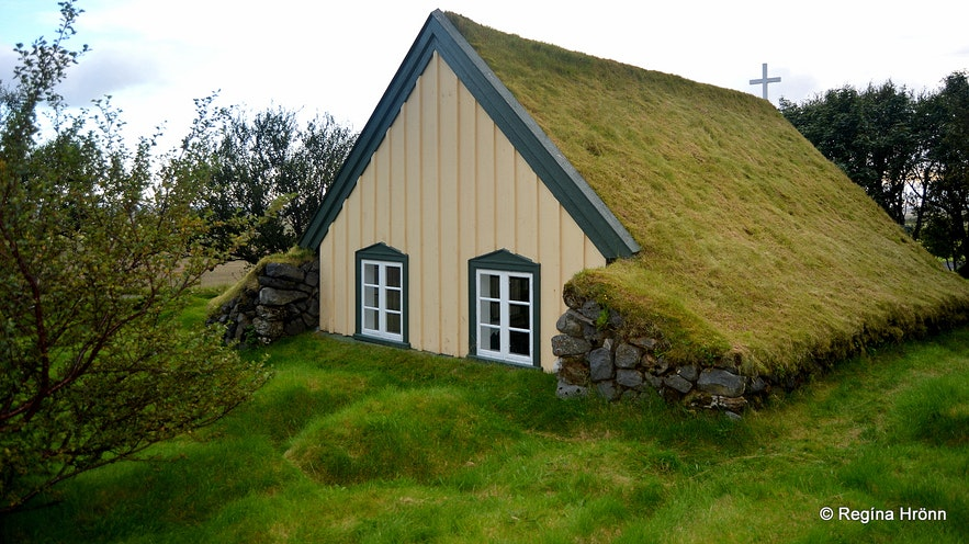 Hofskirkja Turf Church in Öræfi in South-East Iceland - the youngest one