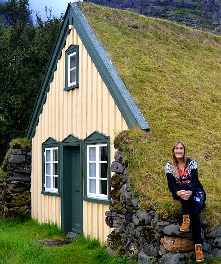 Regína by Hofskirkja Turf Church in Öræfi in South-East Iceland - the youngest one