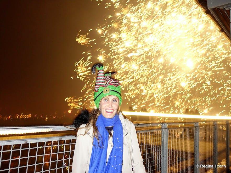 Regína on New Year's Eve 2019 in Reykjavík