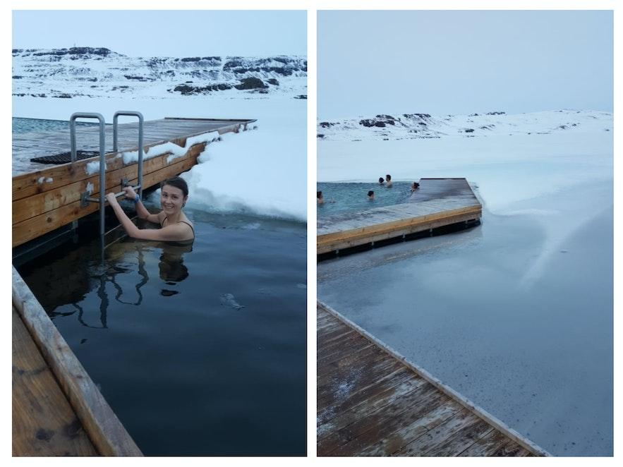 Купаться в ледяной воде озера Урридаватн совсем не холодно!