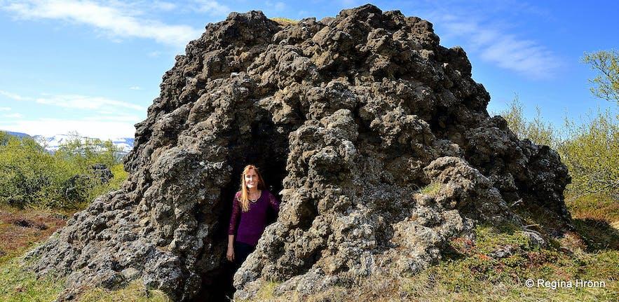 The Peculiar Knútsstaðaborg Lava Chamber in Aðaldalshraun in North-Iceland