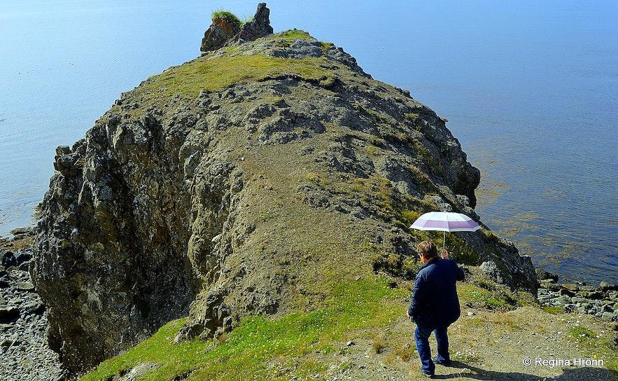 Gatanöf arch-rock on Bakkahöfði cape North-Iceland
