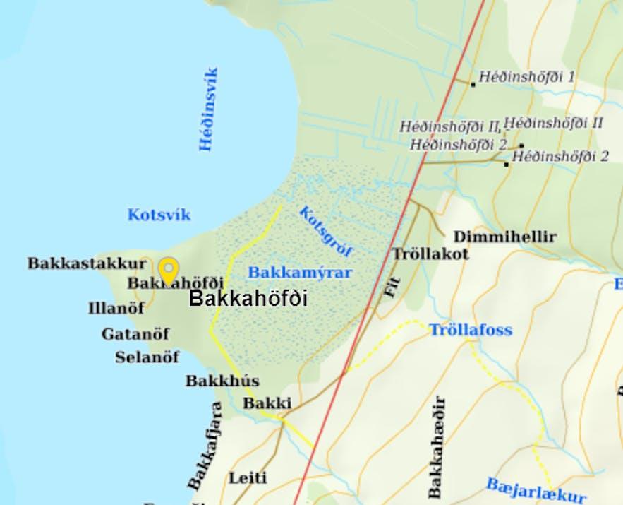 Gatanöf - the Distinctive Arch-Rock on Bakkahöfði Cape in North-Iceland