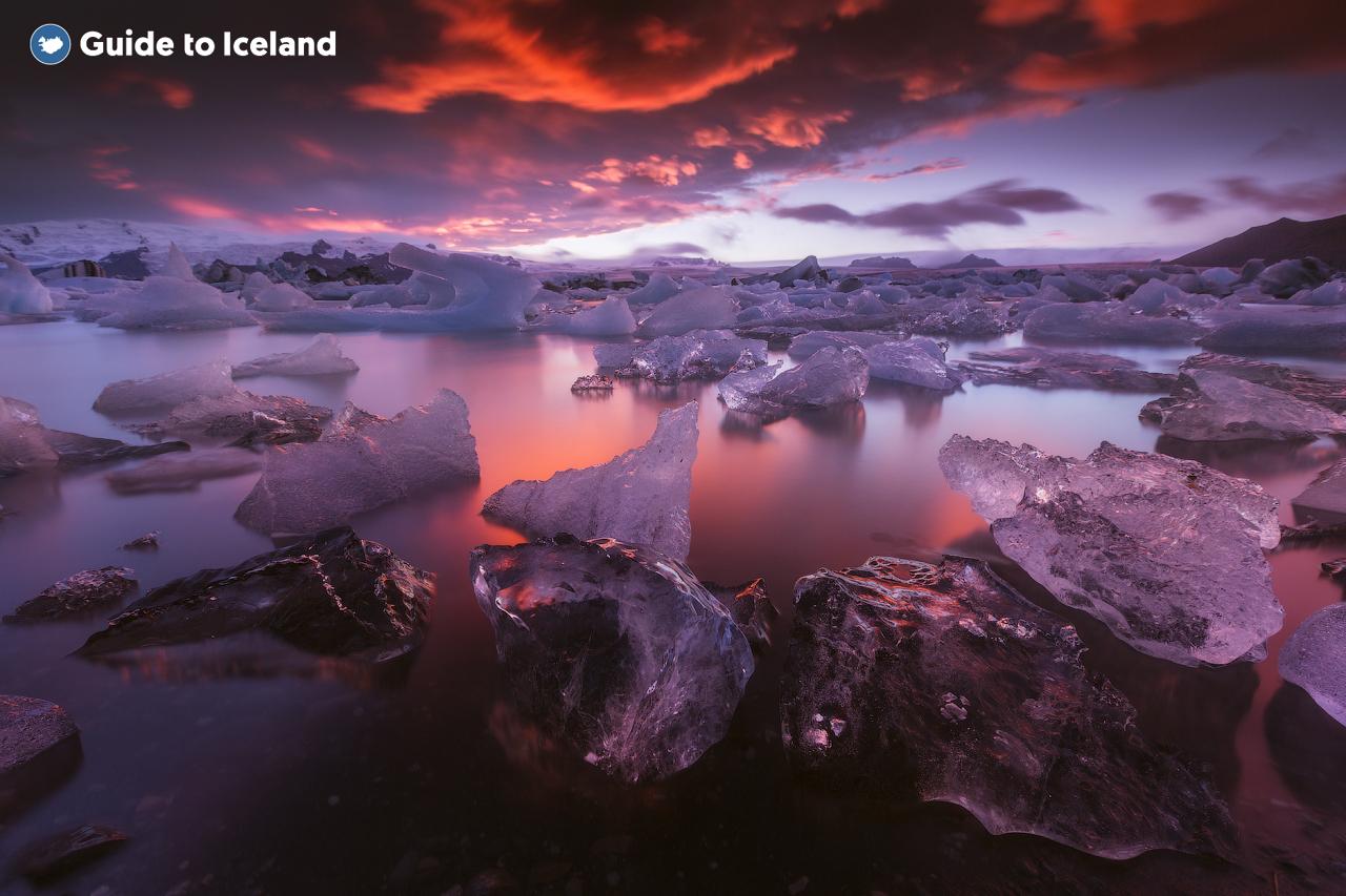아이슬란드의 최대 규모를 자랑하는 요쿨살론 빙하 호수.