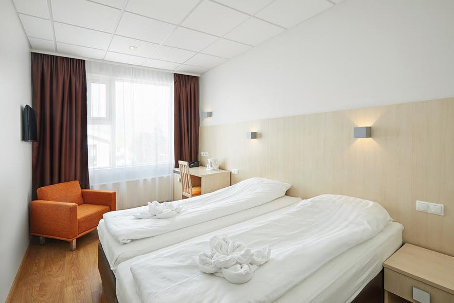 A Double Room at Hotel Klettur