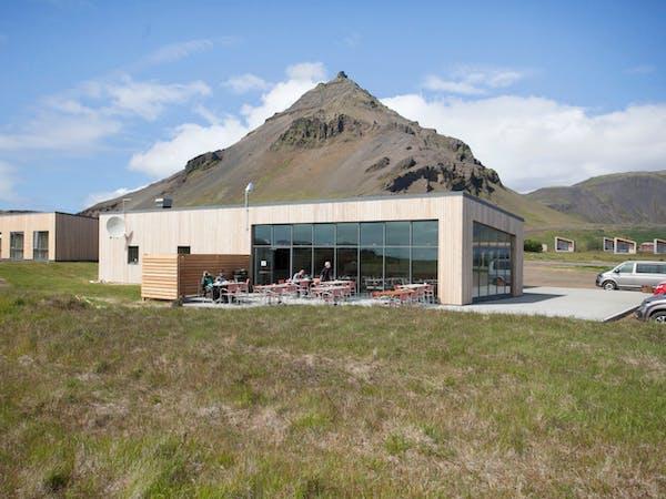 A view of Arnarstapi Hotel from outside