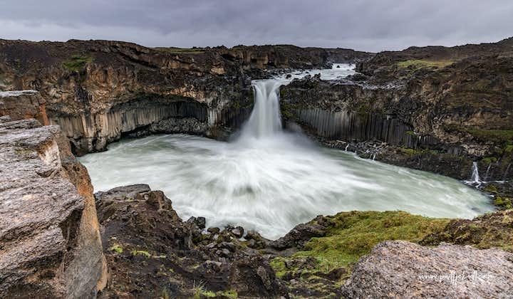Aldeyjarfoss waterfall in the northern highlands