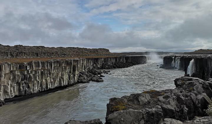 Hexagonal Basalt Rocks in the Studlagil Canyon in East Iceland.